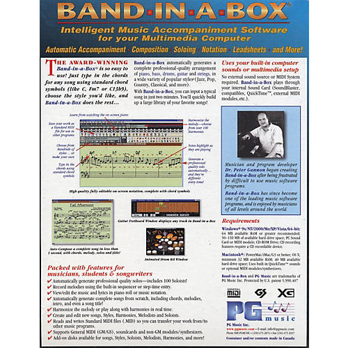 PG Music UltraPAK Band-In-A-Box and RealBand 2009 for Windows Software-thumbnail
