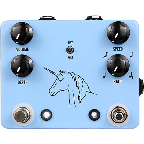 JHS Pedals Unicorn Uni-Vibe Photocell Modulator with Tap Tempo Effects Pedal