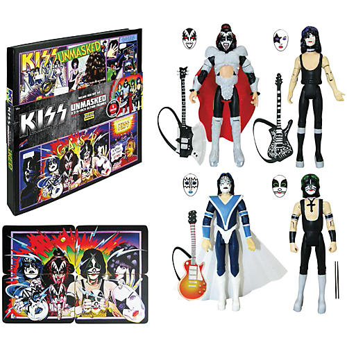 KISS Unmasked 3 3/4-Inch Action Figures Deluxe Box Set - Convention Exclusive-thumbnail