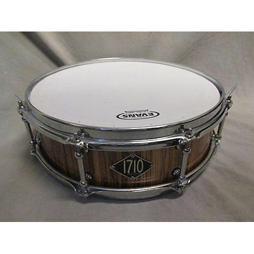 In Store Used Used 1710 Percussion 4X14 Piccolo Snare Natural Zebrawood Drum