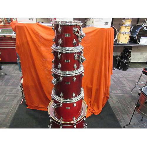 In Store Used Used 2010s AYOTTE 5 Piece CUSTOM-CANADA Maroon Drum Kit-thumbnail