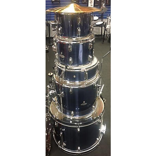 In Store Used Used 2010s Percussion Plus 5 piece 5 Piece Blue Drum Kit-thumbnail