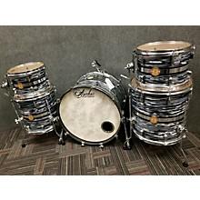 Used 2013 Anchor 5 piece Custom Grey / Blue Swirl Drum Kit