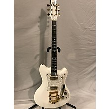 Used 2014 Custom 77 Deluxe Lust For Life - Montana's Fate White Solid Body Electric Guitar