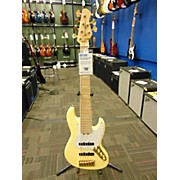 Used 2015 Bass Mods 6 String Jazz K634 Vintage Yellow Electric Bass Guitar