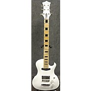 Used 2017 De Clercq Prince Metallic White Solid Body Electric Guitar