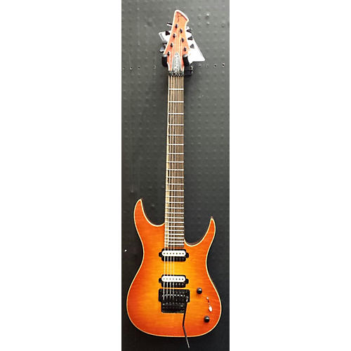 In Store Used Used ACACIA HADES 7 CUSTOM ORANGE BURST Solid Body Electric Guitar-thumbnail