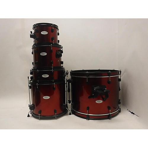 used apollo 5 piece drum set red drum kit guitar center. Black Bedroom Furniture Sets. Home Design Ideas