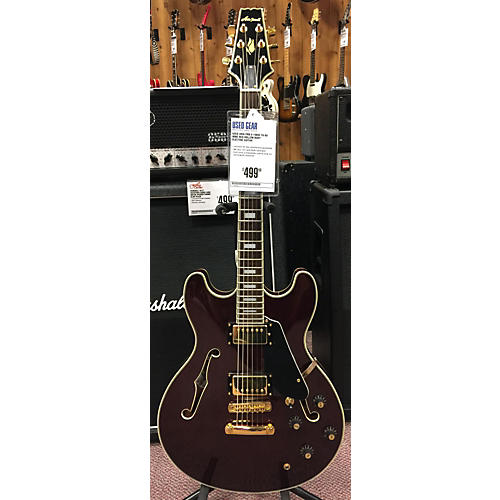In Store Used Used ARIA PRO II 1980s TA-60 Wine Red Hollow Body Electric Guitar
