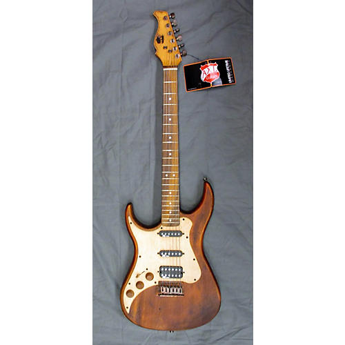 In Store Used Used AXL Guitars Double Cut Worn Natural Electric Guitar-thumbnail