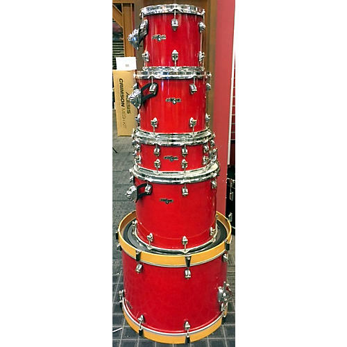 In Store Used Used AYOTTE 2000s 5 piece AYOTTE DRUMSMITH Cherry Drum Kit-thumbnail