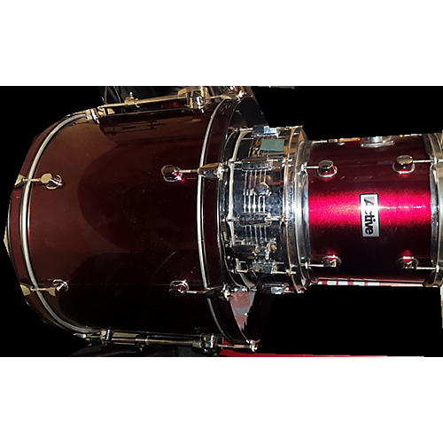 In Store Used Used Active Drums 5 piece Magnum Red Drum Kit-thumbnail