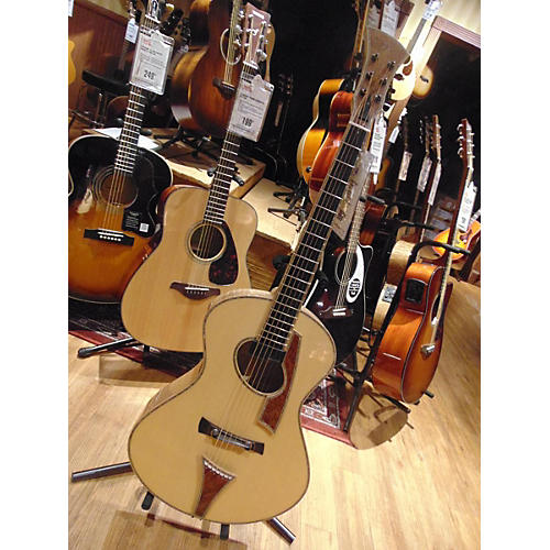 In Store Used Used Andrew White USA C128 Natural Acoustic Electric Guitar-thumbnail