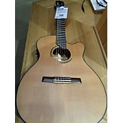 Used Angel Lopez ERE-HYB-CF1 Natural Classical Acoustic Electric Guitar