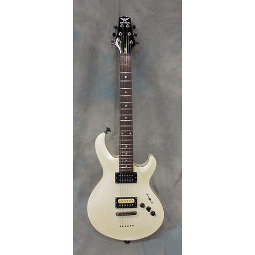 used anthem double cut vintage white solid body electric guitar guitar center. Black Bedroom Furniture Sets. Home Design Ideas