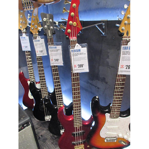 In Store Used Used Aria PRO II 1990 RSB DELUXE Metallic Red Electric Bass Guitar Metallic Red