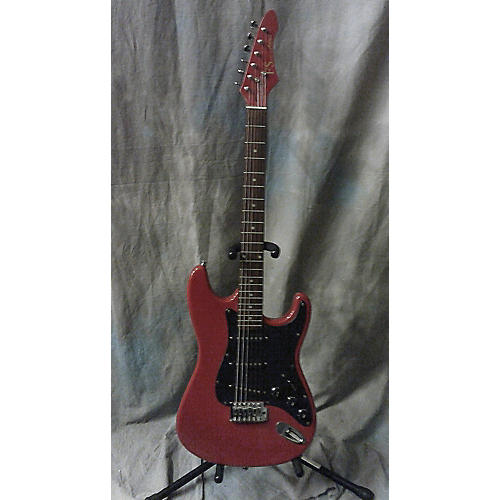In Store Used Used Aria Pro II FS Red Solid Body Electric Guitar-thumbnail