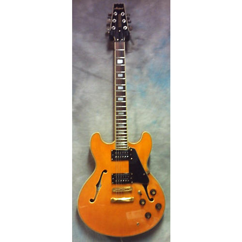 In Store Used Used Aria Pro II TA62 Amber Hollow Body Electric Guitar