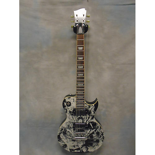 In Store Used Used Artist Series Guitars Demon Hunter Black And White Solid Body Electric Guitar-thumbnail