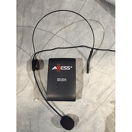 In Store Used Used Axess MPWL1503 BK Headset Wireless System-thumbnail