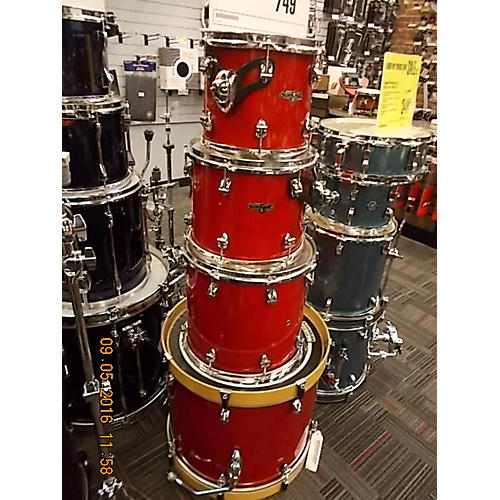 In Store Used Used Ayotte 4 piece Drum Smith Candy Apple Red Drum Kit