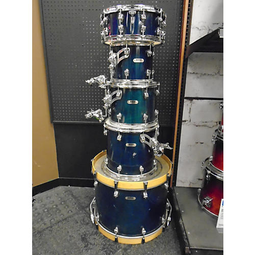In Store Used Used Ayotte 5 Piece Professional Maple DS Blue Drum Kit