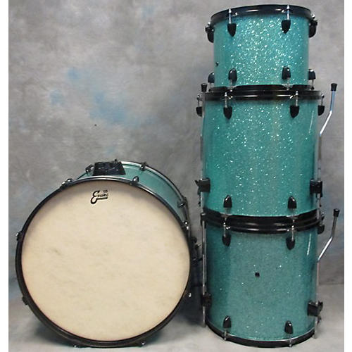 In Store Used Used BEAT BOOGIE 4 piece MAPLE Turquoise GLASS GLITTER Drum Kit Turquoise GLASS GLITTER