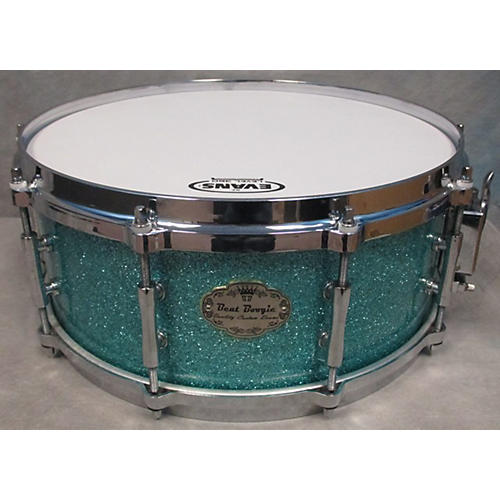 In Store Used Used BEAT BOOGIE 5.5X14 MAPLE Turquoise GLASS GLITTER Drum-thumbnail