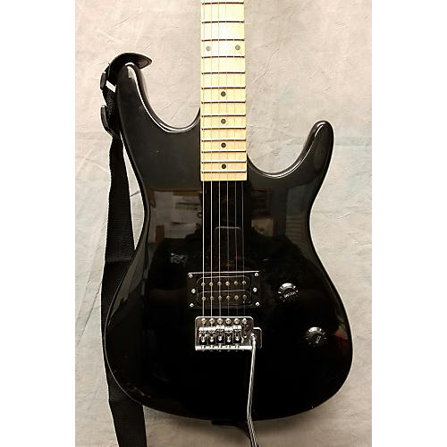 In Store Used Used BGUITARS GE93 Black Solid Body Electric Guitar-thumbnail