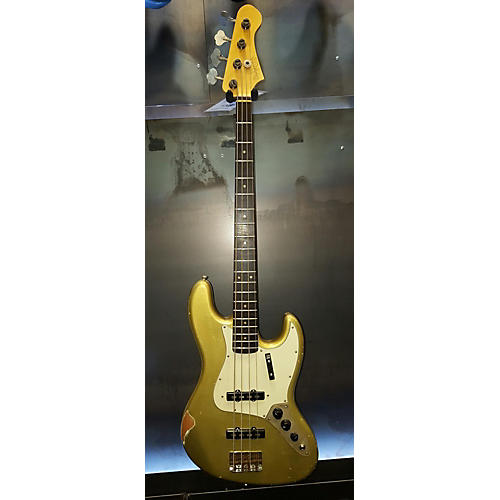 In Store Used Used BLUESMAN VINTAGE 62' EL DORADO Aztec Gold Electric Bass Guitar