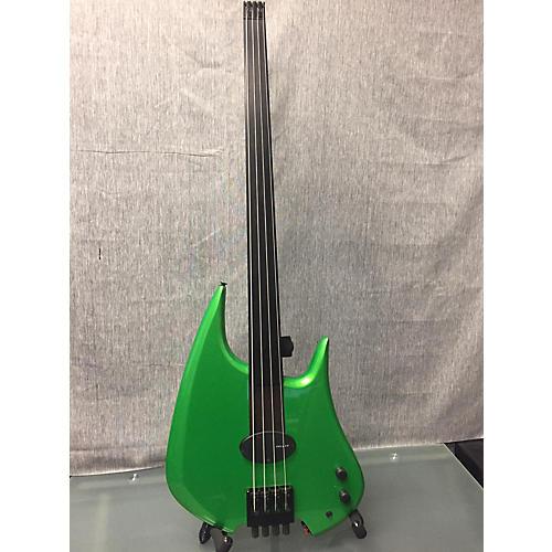 In Store Used Used Bee Bass Headless Custom Built Metallic Green Electric Bass Guitar