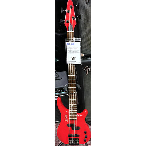In Store Used Used Bently 4 STRING MIK Red Electric Bass Guitar-thumbnail