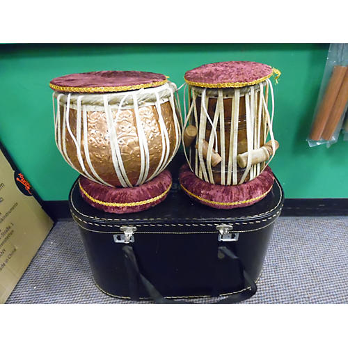 In Store Used Used Biba 2 piece Tabla Antique Natural Drum Kit-thumbnail