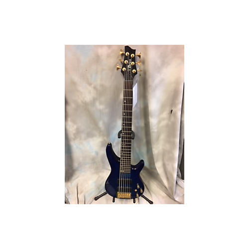 In Store Used Used Brice 6 String Quilted Blue Electric Bass Guitar