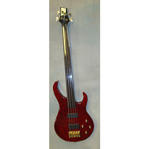 In Store Used Used Brice Fretless Red Electric Bass Guitar