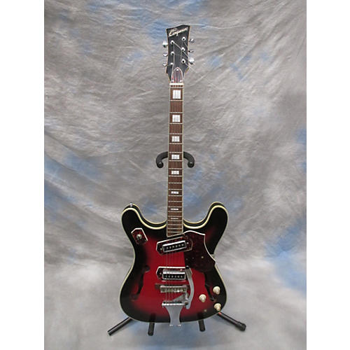 In Store Used Used Bruno 1960s Conqueror Vintage Sunburst Hollow Body Electric Guitar-thumbnail