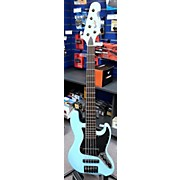 Used Bunker Custom Powder Blue Electric Bass Guitar
