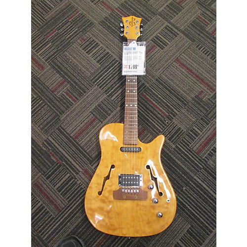 In Store Used Used Bunker Guitars AT200 Natural Hollow Body Electric Guitar-thumbnail