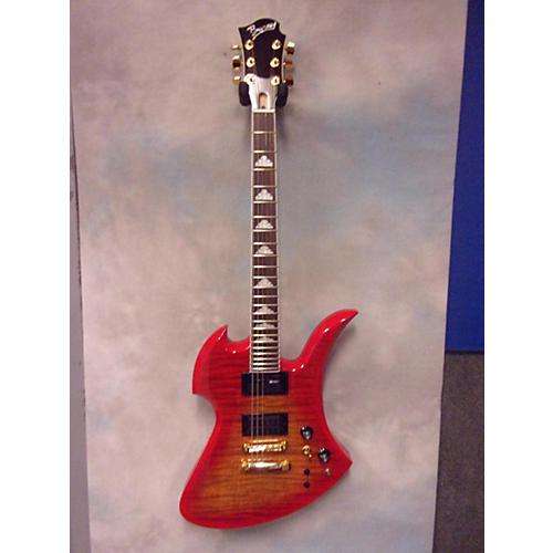 In Store Used Used Burny MG1455 Flame Burst Solid Body Electric Guitar