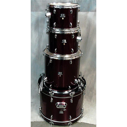 In Store Used Used CB DRUMS 4 piece SP SERIES Burgundy Drum Kit-thumbnail