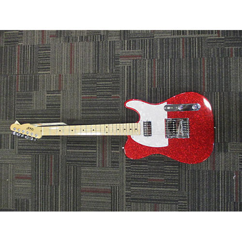 In Store Used Used CB Hill Tele HH Red Sparkle Solid Body Electric Guitar-thumbnail