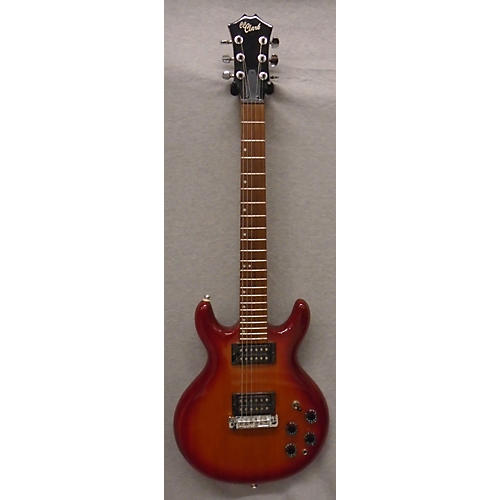 In Store Used Used CC CLARK DOUBLE CUT Cherry Sunburst Solid Body Electric Guitar