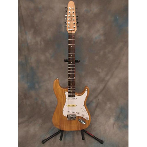 In Store Used Used COZART 12 STRING STRAT NATURAL ASH Solid Body Electric Guitar-thumbnail