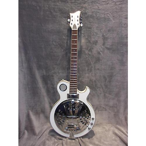 used cozart resonator white acoustic electric guitar guitar center. Black Bedroom Furniture Sets. Home Design Ideas
