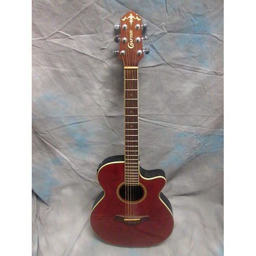In Store Used Used CRAFTER FX56OEQ Red Acoustic Electric Guitar