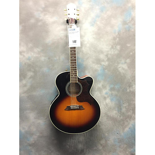 In Store Used Used CRAFTER SJC330 EQ JUMBO Vintage Sunburst Acoustic Electric Guitar