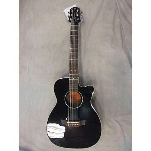 In Store Used Used CRAFTER TRV23 Black Acoustic Guitar-thumbnail