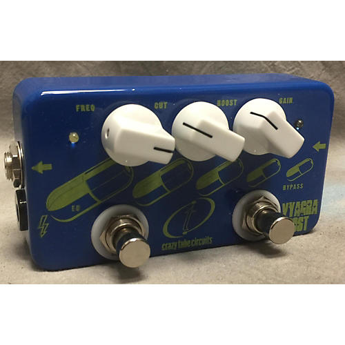 In Store Used Used CRAZY TUBE CIRCUITS VIAGRA BOOST Effect Pedal