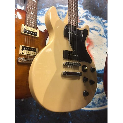 In Store Used Used CRUZER DOUBLE CUT W/P90'S Vintage White Solid Body Electric Guitar-thumbnail