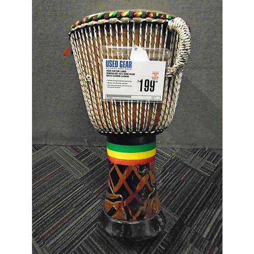 In Store Used Used CUSTOM SENEGALESE 2015 HAND-MADE RASTA DJEMBE Djembe